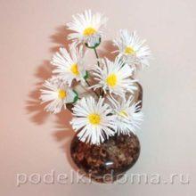 Веточка хризантемы из фоамирана (пластичной замши)