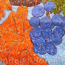 Дары осени. Мозаика из яичной скорлупы