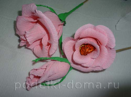 rozy iz konfet