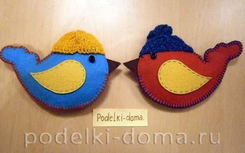 Ptichki-iz-fetra-Baboshkina-Elena-Georgievna-MBDOU-----267-g Новогодние елочные игрушки своими руками