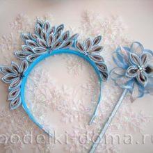 Корона и волшебная палочка для феи, канзаши