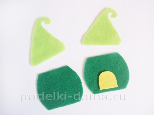 Домики из фетра - елочные игрушки (с выкройками)
