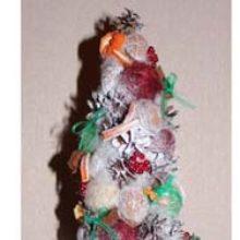 Новогодняя елочка из сизаля «Ассорти». Мастер-класс