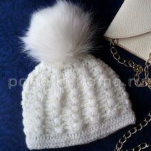 Женские шапки, вязаные крючком