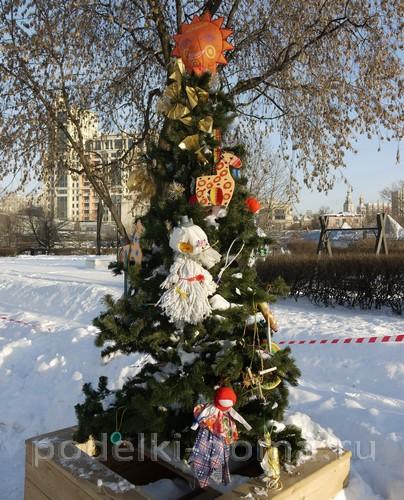 elka-narodnaya Новогодние елочные игрушки своими руками