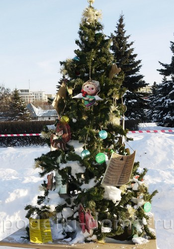 elka-teatr-kukol Новогодние елочные игрушки своими руками
