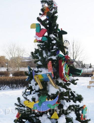elka-zoopark Новогодние елочные игрушки своими руками