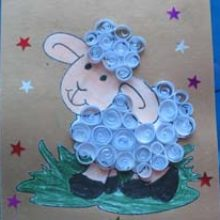 Новогодняя открытка «Овечка Бяшка»