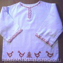 Как сшить детскую рубашку с вышивкой-оберегом