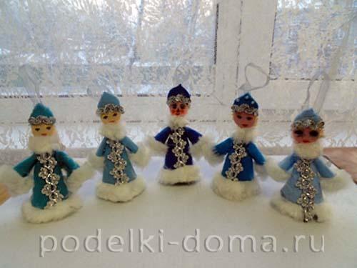 snegurochki-kolokolchiki Новогодние елочные игрушки своими руками