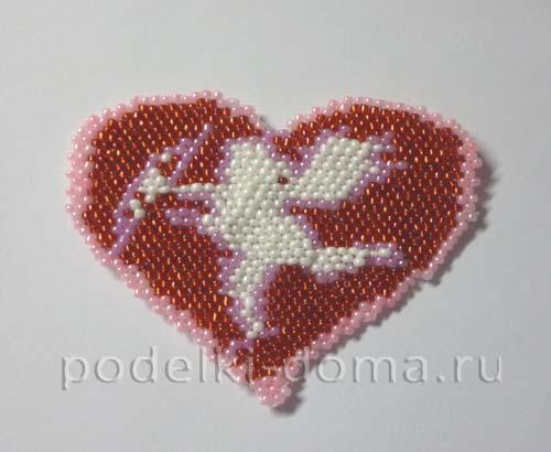 valentinka iz bisera kupidon