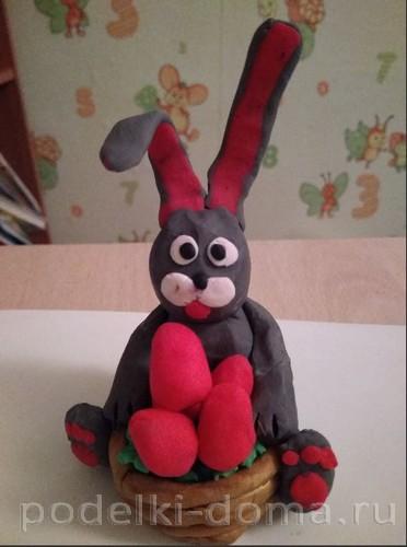 пасхальный заяц пластилин