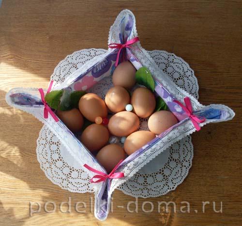 """Корзинка для пасхального яйца """"Зайка"""" (мастер-класс по шитью)"""