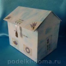 Шкатулка-домик своими руками