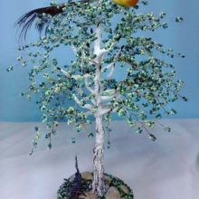 Дерево из бисера «Березка»