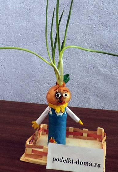 Поделки из овощей и цветов для школы