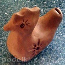 Белорусская глиняная свистулька