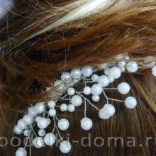 Гребешок для волос с бусинами