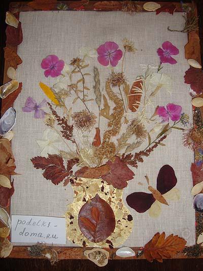 Поделки ко дню осени из семян