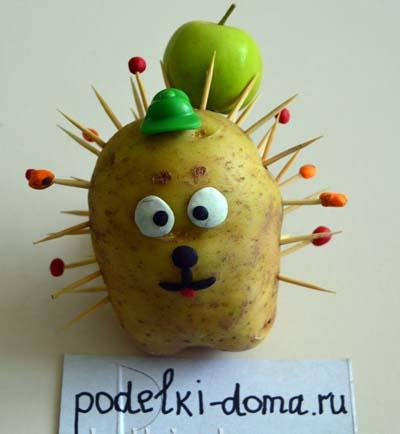 поделка из картошки ежик фото