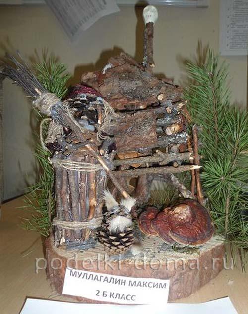 podelka iz prirodnogo materiala baba yaga