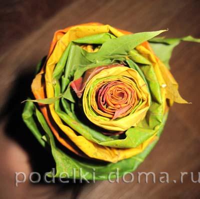 rozy iz listyev svoimi rukami6