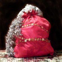 Как сшить мешок Деда Мороза