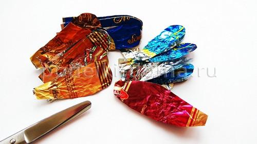 Поделки из фантиков от конфет