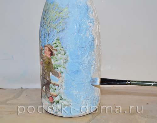 Декупаж бутылок туалетной бумагой (мастер-класс), Коробочка идей и мастер-классов