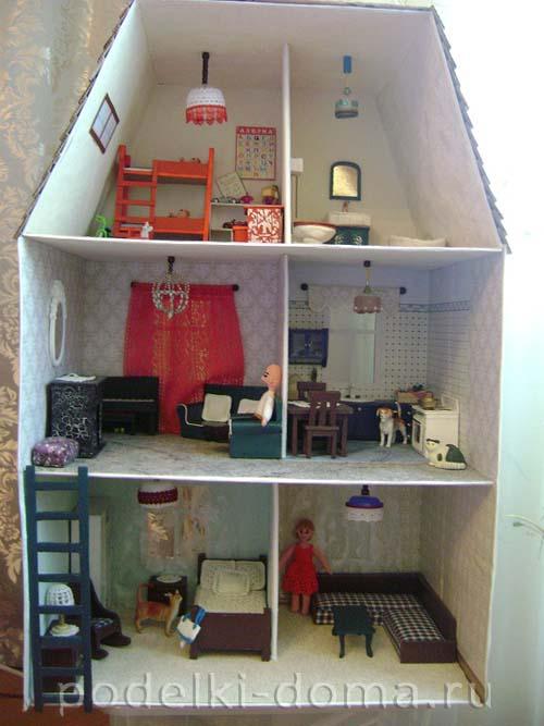 Шкаф кукольный из фанеры своими руками 28