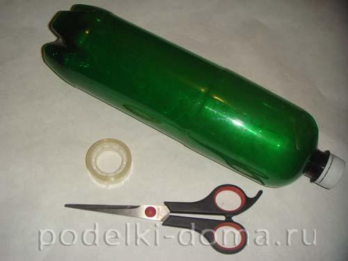 novogodnyaya podelka iz plastikovoy butylki elochka1