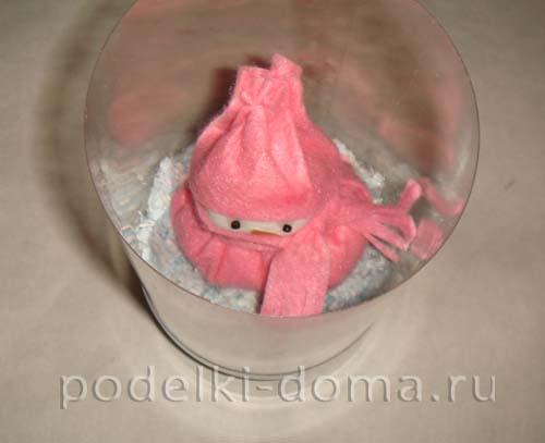 novogodnyaya podelka iz plastikovoy butylki8