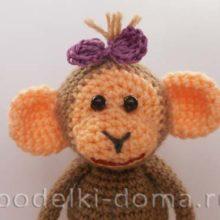 Вяжем игрушку обезьянку (крючком)