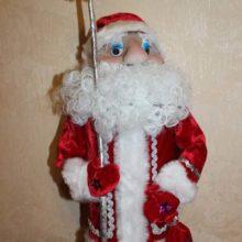 Кукла «Дед Мороз» в технике скульптурный текстиль (из капрона)