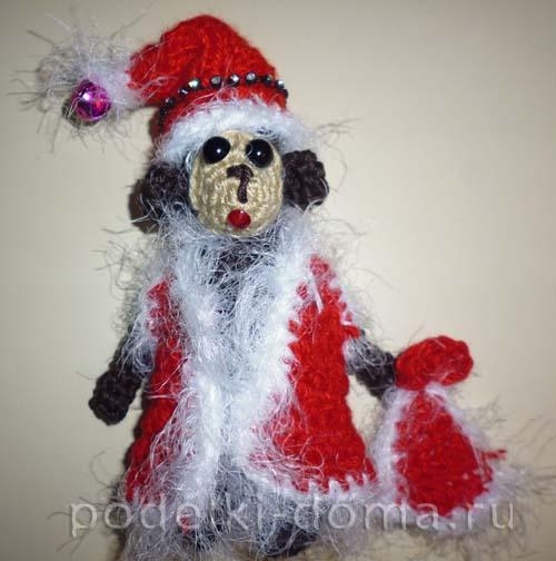 обезьянка, дед мороз 1
