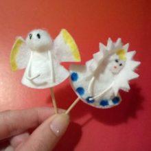 Топперы «Снежная королева и Ангел»