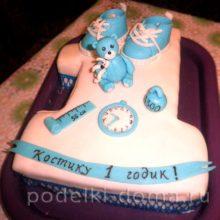 Торт на день рождения — 1 год