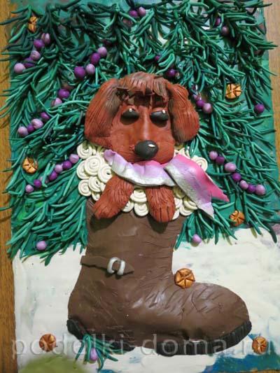 novogodnyaya kartina iz plastilina24