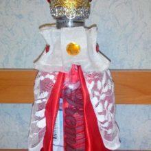 Декор бутылки «Царский подарок»