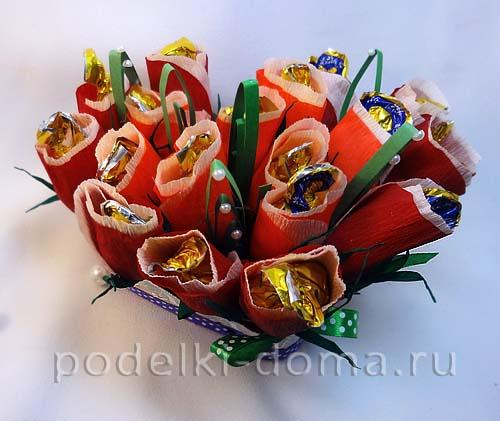 Цветы из гофрированной мастер класс с пошаговым 88