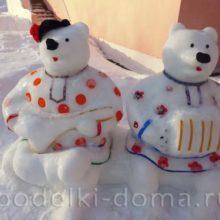 Новые снежные фигуры Ижевского детского сада № 267