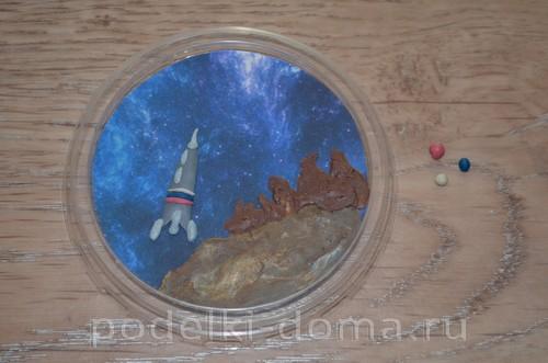 магнит космос пластилин11