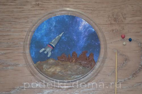 магнит космос пластилин12