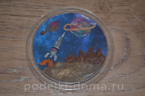магнит космос пластилин19