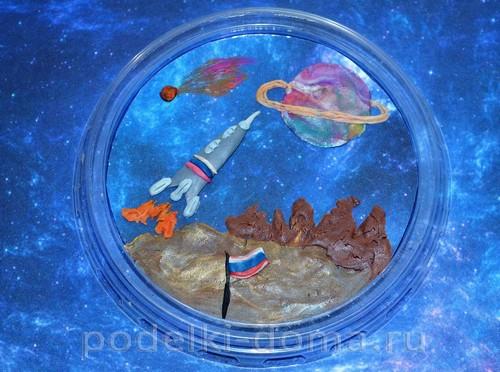 магнит космос пластилин23