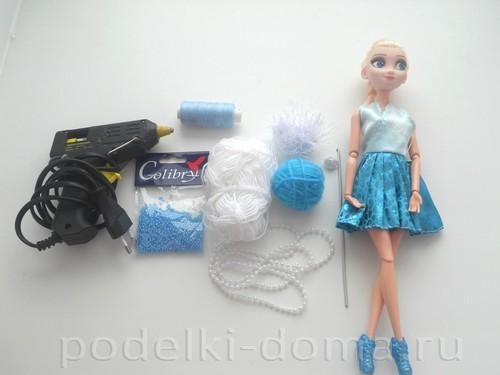 Как сделать платье для куклы эльзы 115