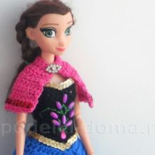 Платье для куклы принцессы Анны, крючком