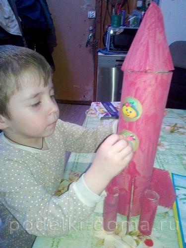поделка ракета 05