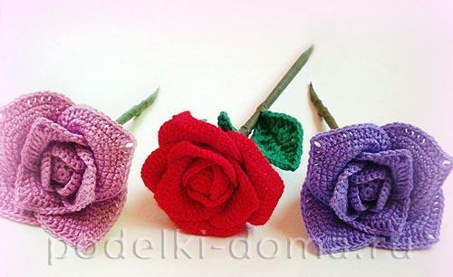 Розы вязанные крючком