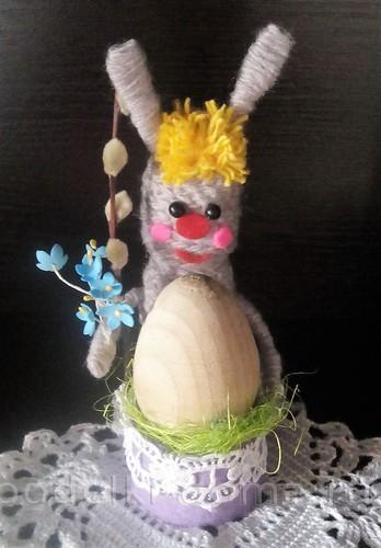 подставка для яйца зайчик